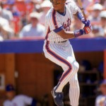 1990: Darryl Strawberry of the New York Mets steps into the swing during a game in the 1990 season. (Photo by: Scott Halleran/Getty Images