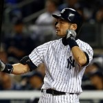 NEW YORK, NY - SEPTEMBER 25:  Ichiro Suzuki #31 of the New York Yankees bats in the the second inning against the Baltimore Orioles during a game at Yankee Stadium on September 25, 2014 in the Bronx borough of New York City.  (Photo by Elsa/Getty Images)