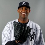 TAMPA, FL - FEBRUARY 22:  CC Sabathia #52 of the New York Yankees poses for a portrait during New York Yankees Photo Day on February 22, 2014 at George M. Steinbrenner Field in Tampa, Florida.  (Photo by Elsa/Getty Images)