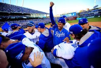Royals celebrating