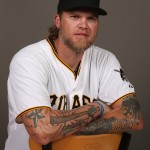 BRADENTON, FL - FEBRUARY 26:  Corey Hart #12 of the Pittsburgh Pirates poses for a portrait on photo day on February 26, 2015 at Pirate City in Bradenton, Florida.  (Photo by Rob Carr/Getty Images)