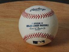 MARYVALE, AZ - FEBRUARY 27:  A baseball with Major League Baseball Commissioner Rob Manfred Jr.'s signature is seen during Photo Day on February 27, 2015 at Maryville Baseball Park in Maryvale, Arizona.  (Photo by Rich Pilling/Getty Images)