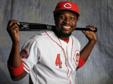 GOODYEAR, AZ - FEBRUARY 26: Brandon Phillips #4 of the Cincinnati Reds poses for a portrait during Photo Day on February 26, 2015 at Goodyear Ballpark in Goodyear, Arizona.  (Photo by Rich Pilling/Getty Images)