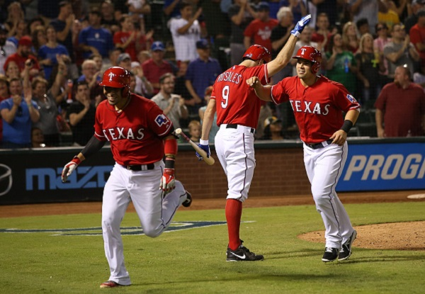 Rangers celebrating