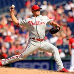 WASHINGTON, DC - APRIL 18:  Jonathan Papelbon #58 of the Philadelphia Phillies pitches in the ninth inning to get his 3rd save during a baseball game against the Washington Nationals at Nationals Park on April 18, 2015 in Washington, DC.  The Phillies won 5-3.  (Photo by Mitchell Layton/Getty Images)