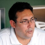 WASHINGTON, DC - JULY 31:  General Manager Ruben Amaro Jr. of the Philadelphia Phillies talks to the media before the game against the Washington Nationals at Nationals Park on July 31, 2012 in Washington, DC.  (Photo by Greg Fiume/Getty Images)