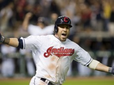 CLEVELAND, OH - MAY 17:  Jason Kipnis #22 of the Cleveland Indians celebrates after hiting a walk-off three-run home run in the tenth inning against the Seattle Mariners at Progressive Field on May 17, 2013 in Cleveland, Ohio. The Indians defeated the Mariners 6-3. (Photo by Jason Miller/Getty Images)