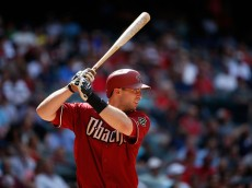 PHOENIX, AZ - MAY 13:  Paul Goldschmidt #44 of the Arizona Diamondbacks at bat during the MLB game against the Washington Nationals at Chase Field on May 13, 2015 in Phoenix, Arizona.  (Photo by Christian Petersen/Getty Images)