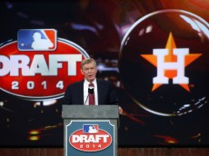SECAUCUS, NJ - JUNE 5: Commissioner Allan H. Bud Selig announces that the Houston Astros have selected Brady Aiken number one overall during the MLB First-Year Player Draft at the MLB Network Studio on June 5, 2014 in Secacucus, New Jersey. (Photo by Rich Schultz/Getty Images)