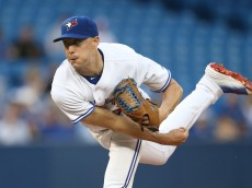 TORONTO, CANADA - MAY 8: Aaron Sanchez #41 of the Toronto Blue Jays delivers a pitch in the third inning during MLB game action against the Boston Red Sox on May 8, 2015 at Rogers Centre in Toronto, Ontario, Canada. (Photo by Tom Szczerbowski/Getty Images)