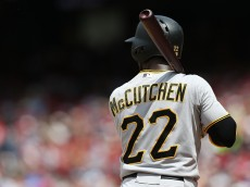 WASHINGTON, DC - JUNE 21: Andrew McCutchen #22 of the Pittsburgh Pirates in action against the Washington Nationals at Nationals Park on June 21, 2015 in Washington, DC. (Photo by Patrick Smith/Getty Images)