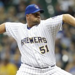 MILWAUKEE, WI - JUNE 26: Jonathan Broxton #51 of the Milwaukee Brewers pitches during the ninth inning against the Minnesota Twins during the Interleague game at Miller Park on June 26, 2015 in Milwaukee, Wisconsin. (Photo by Mike McGinnis/Getty Images)  *** Local Caption *** Jonathan Broxton