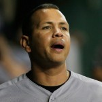 HOUSTON, TX - JUNE 25: Alex Rodriguez #13 of the New York Yankees waits in the dugout prior to the start of their game against the Houston Astros at Minute Maid Park on June 25, 2015 in Houston, Texas. (Photo by Scott Halleran/Getty Images)