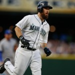 SEATTLE, WA - JUNE 23:  Dustin Ackley #13 of the Seattle Mariners rounds the bases after hitting a two-run homer against the Kansas City Royals in the fifth inning at Safeco Field on June 23, 2015 in Seattle, Washington.  (Photo by Otto Greule Jr/Getty Images) *** Local Caption *** Dustin Ackley