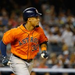 NEW YORK, NY - AUGUST 25:  Carlos Gomez #30 of the Houston Astros rounds the bases after hitting a three run home run against Chris Capuano #26 of the New York Yankees in the seventh inning during their game at Yankee Stadium on August 25, 2015 in New York City.  (Photo by Al Bello/Getty Images)