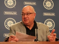 SEATTLE - JULY 09:  Executive Vice President & GM Jack Zduriencik of the Seattle Mariners speaks to the media at a press conference announcing a trade of starting pitcher Cliff Lee in exchange for first baseman Justin Smoak, pitcher Blake Beavan, Double-A Frisco reliever Josh Lueke and second baseman Matt Lawson of the Texas Rangers at Safeco Field on July 9, 2010 in Seattle, Washington. (Photo by Otto Greule Jr/Getty Images)