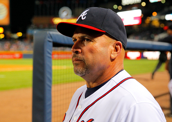 ATLANTA, GA - AUGUST 26: Manager Fredi Gonzalez #33 of the Atlanta Braves in the sixth inning of the game against the Colorado Rockies on August 26, 2015 at Turner Field in Atlanta, Georgia. The Rockies won the game 6-3. (Photo by Todd Kirkland/Getty Images) *** Local Caption *** Fredi Gonzalez