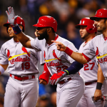 PITTSBURGH, PA - SEPTEMBER 30: Jason Heyward #22 of the St Louis Cardinals is congratulated at home plate by teammate Matt Carpenter #13 after hitting a grand slam home run in the third inning against the Pittsburgh Pirates during the game at PNC Park on September 30, 2015 in Pittsburgh, Pennsylvania. (Photo by Jared Wickerham/Getty Images)