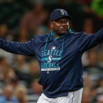 SEATTLE, WA - SEPTEMBER 09:  Manager Lloyd McClendon #21 of the Seattle Mariners gestures as he asks for a replay review after Robinson Chirinos of the Texas Rangers was hit by a pitch in the fifth inning at Safeco Field on September 9, 2015 in Seattle, Washington. The call stood and Chirinos was awarded first base on the play.  (Photo by Otto Greule Jr/Getty Images)