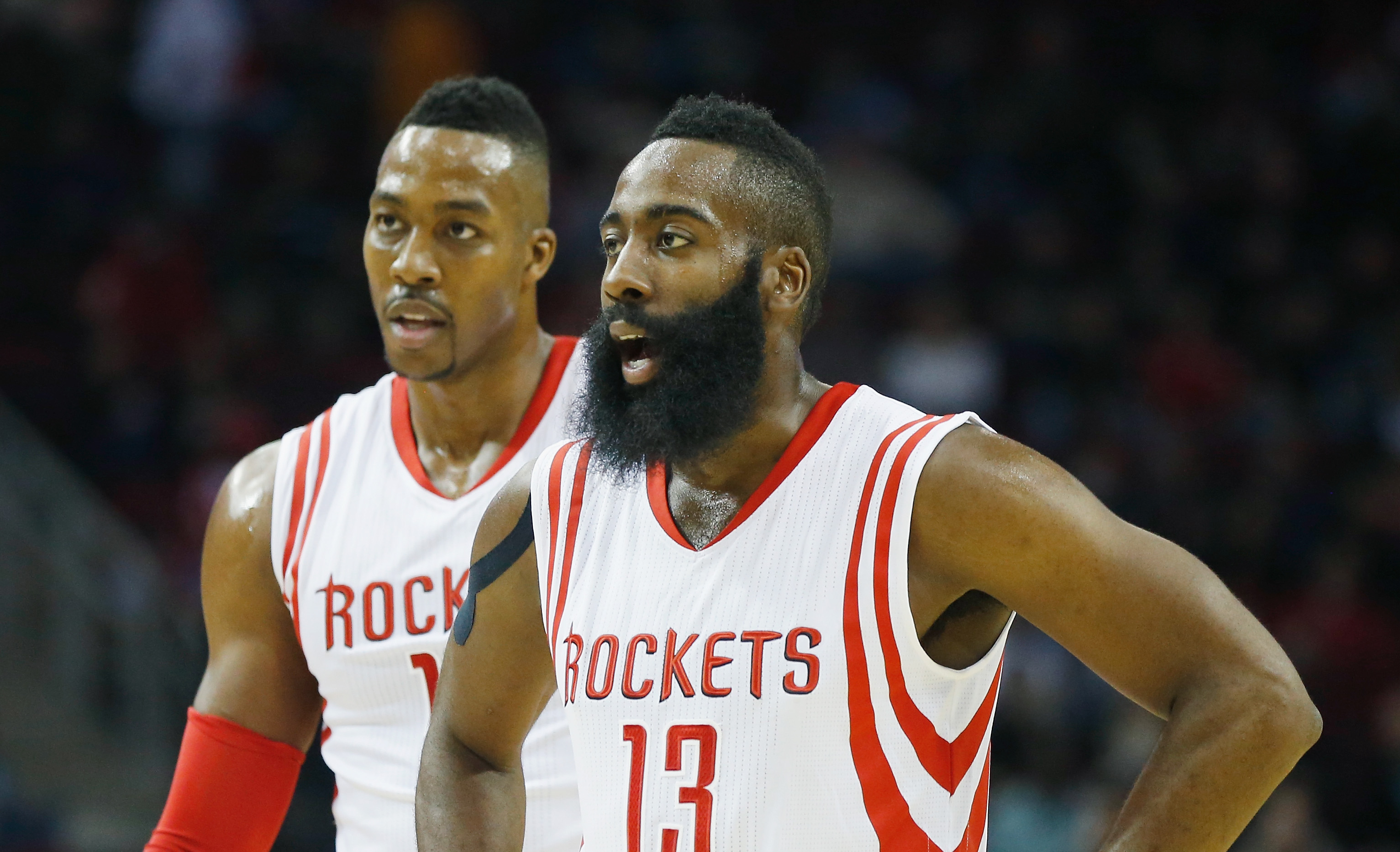Which rapper put a curse on James Harden?