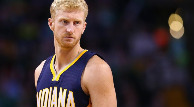 BOSTON, MA - NOVEMBER 11:  Chase Budinger #10 of the Indiana Pacers looks on during the game against the Boston Celtics  at TD Garden on November 11, 2015 in Boston, Massachusetts. NOTE TO USER: User expressly acknowledges and agrees that, by downloading and/or using this photograph, user is consenting to the terms and conditions of the Getty Images License Agreement.  (Photo by Maddie Meyer/Getty Images)