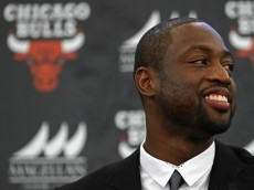 CHICAGO, IL - JULY 29:  Dwyane Wade is introduced as a new member of the Chicago Bulls at the Advocate Center on July 29, 2016 in Chicago, Illinois.  (Photo by Jonathan Daniel/Getty Images)