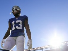 EAST RUTHERFORD, NJ - SEPTEMBER 25:  Odell Beckham #13 of the New York Giants walks off the field after being defeated by the Washington Redskins 29-27 at MetLife Stadium on September 25, 2016 in East Rutherford, New Jersey.  (Photo by Michael Reaves/Getty Images)