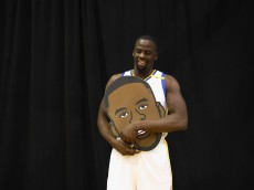 OAKLAND, CA - SEPTEMBER 26:  Draymond Green #23 of the Golden State Warriors poses for the Warriors social media team during the Golden State Warriors Media Day at the Warriors Practice Facility on September 26, 2016 in Oakland, California.  (Photo by Ezra Shaw/Getty Images)
