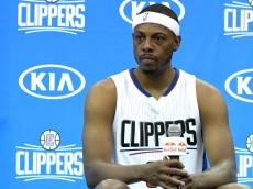 PLAYA VISTA, CA - SEPTEMBER 26:  Paul Pierce #34 of the Los Angeles Clippers answers question during media day at the Los Angeles Clippers Training Center on September 26, 2016 in Playa Vista, California.  NOTE TO USER: User expressly acknowledges and agrees that, by downloading and/or using this photograph, user is consenting to the terms and conditions of the Getty Images License Agreement. Mandatory copyright notice.  (Photo by Jayne Kamin-Oncea/Getty Images)
