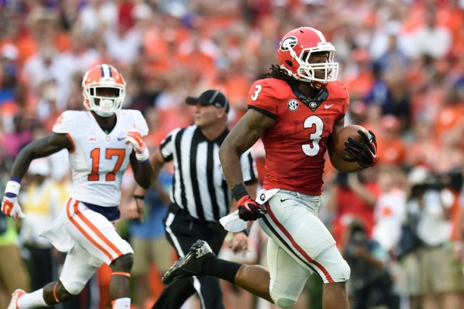 A gassed Clemson defense was no match for Todd Gurley, who ran for 198 yards and 3 TDs.