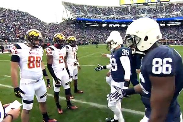 Team Captains Shake Hands