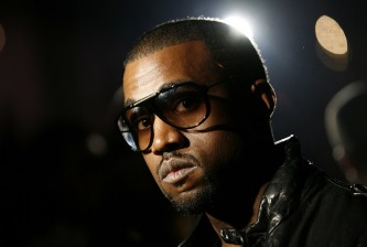 Musician Kanye West arrives at the Ghita 2008 collection during New York Fashion Week
