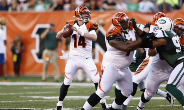 Andy Dalton Preseason Jets