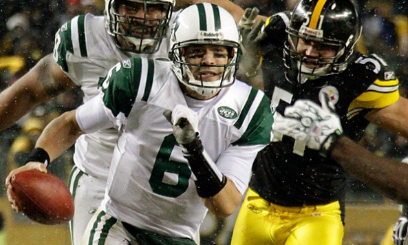 Mark Sanchez Scramble Steelers