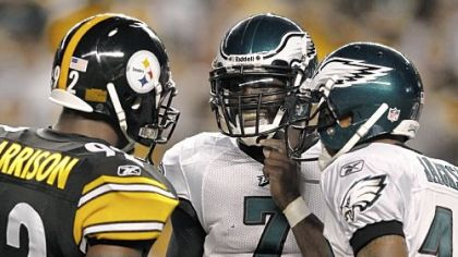 James Harrison Michael Vick