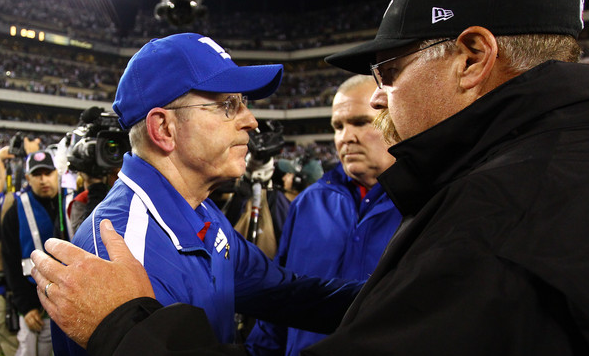 Andy Reid Tom Coughlin Handshake