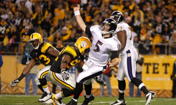 Flacco Off Balance Steelers
