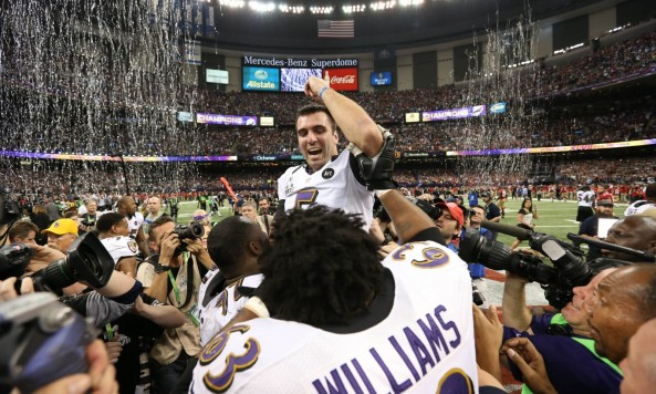 Joe Flacco Wins Super Bowl