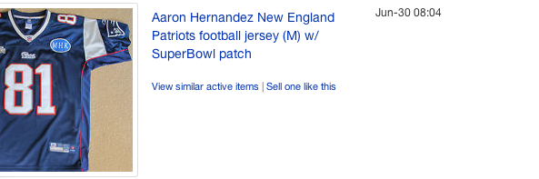 Hernandez Jersey Auction 2