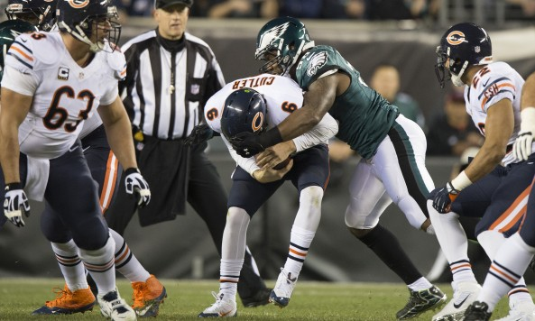 Jay Cutler Sacked Eagles