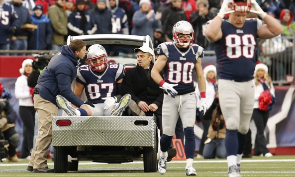 Rob Gronkowski Carted Off