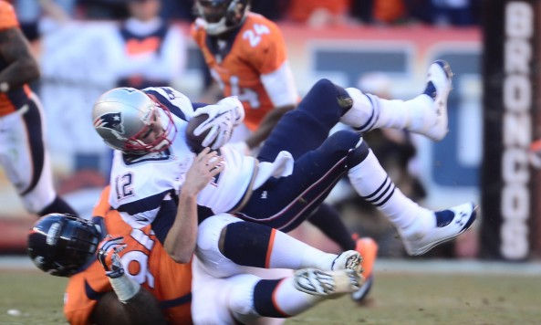 Knighton Sacks Brady AFC Championship Game