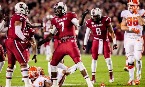 Jadeveon Clowney Celebrates South Carolina