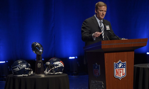 Roger Goodell Super Bowl XLVIII New Conference