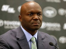 FLORHAM PARK, NJ - JANUARY 21: Head coach Todd Bowles of the New York Jets addresses the media during a press conference on January 21, 2015 in Florham Park, New Jersey. Bowles and General Manager Mike Maccagnan were both introduced. (Photo by Rich Schultz /Getty Images)