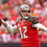 TAMPA, FL - NOVEMBER 09:  Josh McCown #12 of the Tampa Bay Buccaneers sets to throw during the second quarter of the game against the Atlanta Falcons at Raymond James Stadium on November 9, 2014 in Tampa, Florida.  (Photo by Mike Ehrmann/Getty Images)