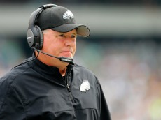 PHILADELPHIA, PA - SEPTEMBER 21:  Head coach Chip Kelly of the Philadelphia Eagles looks on against the Washington Redskins in the first half of the game at Lincoln Financial Field on September 21, 2014 in Philadelphia, Pennsylvania.  (Photo by Rich Schultz/Getty Images)