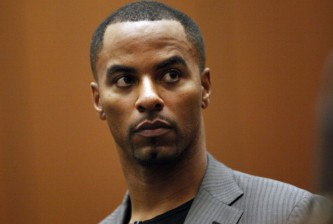 LOS ANGELES, CA  FEBRUARY 20:  Former NFL safety Darren Sharper pleads not guilty to charges of allegedly drugging and raping a pair of women he met at a West Hollywood nightclub, in a Los Angeles Superior courtroom February 20, 2014 in Los Angeles, California. Sharper's bail has been increased from $200,000 to $1 million. (Photo by Bob Chamberlin-Pool/Getty Images)