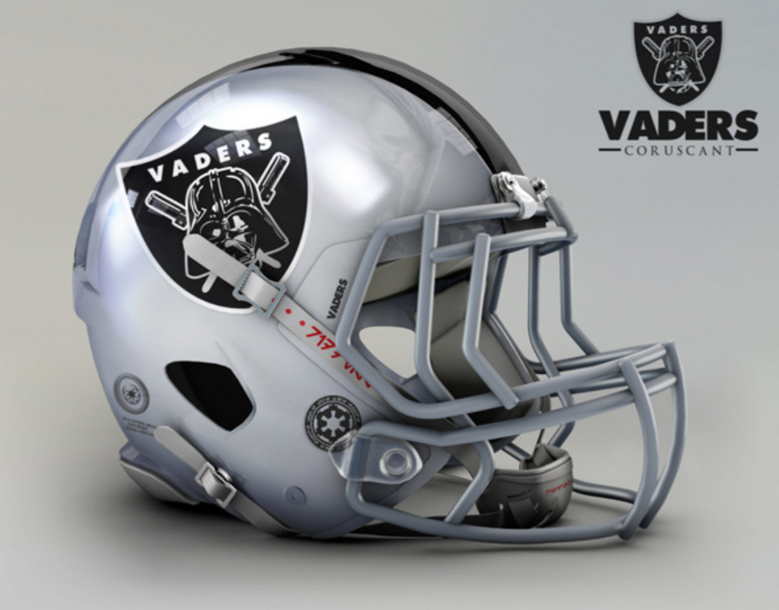 Star Wars Themed Nfl Team Helmets This Given Sunday
