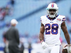 ORCHARD PARK, NY - OCTOBER 19:  C.J. Spiller #28 of the Buffalo Bills warms up before the first half against the Minnesota Vikings at Ralph Wilson Stadium on October 19, 2014 in Orchard Park, New York.  (Photo by Brett Carlsen/Getty Images)